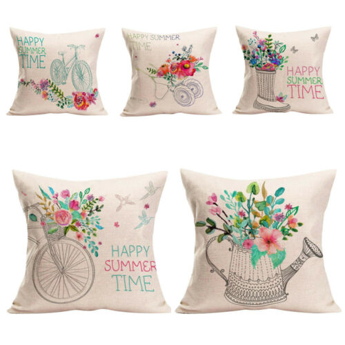 Home Decor Cushion Cover Happy Summer Time Throw Pillowcase Pillow Covers 2018 9