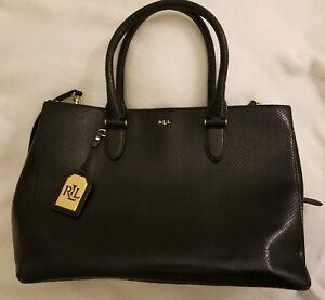 06c51ea581 Image is loading Lauren-Ralph-Lauren-Newbury-Double-Zip-Leather-Satchel-