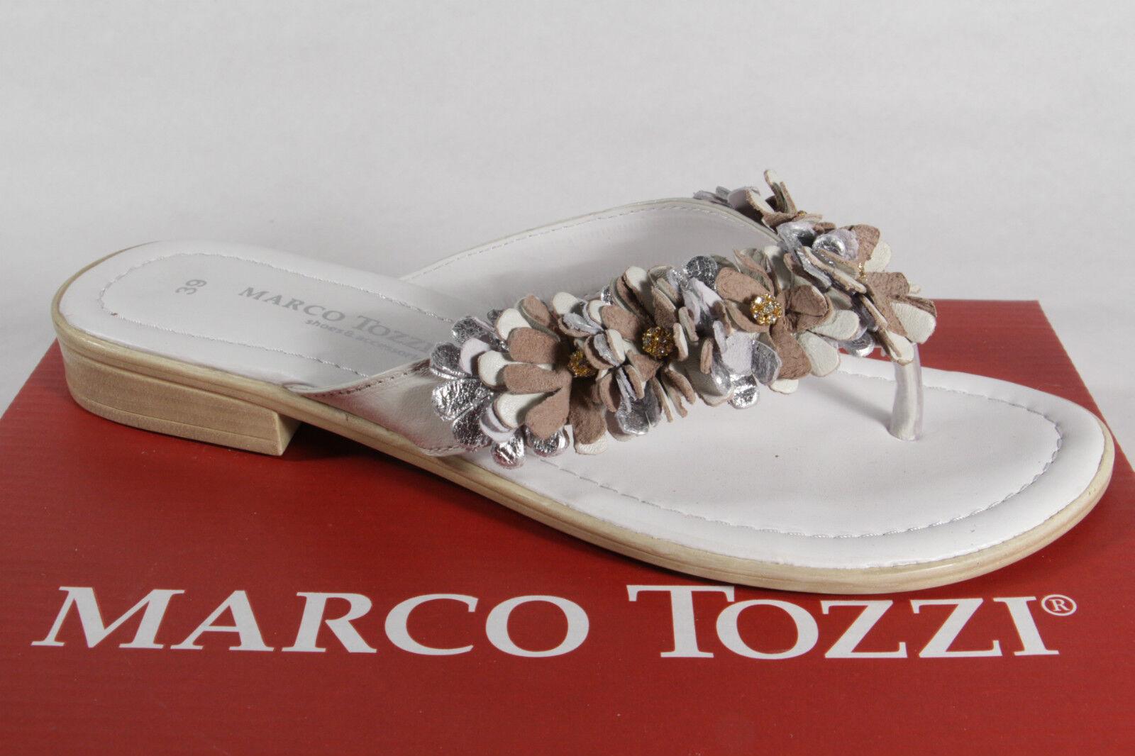 Marco Tozzi Mulas de Dedos Sandalias Pantuflas blancoo blancoo blancoo Plata Beis Nuevo  Hay más marcas de productos de alta calidad.