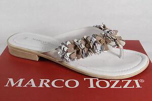 Marco-Tozzi-sandales-tongs-sandolettes-ARGENT-BLANC-BEIGE-NEUF