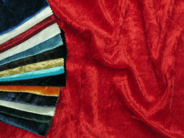 CRUSHED VELVET (VELOUR) FABRIC - ONE WAY STRETCH - WIDTH 150 CM