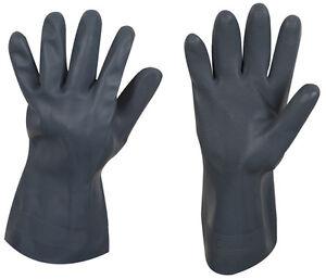schwarze-Gummihandschuhe-extra-robust-oel-und-saeurebestaendig-Groesse-8-9-und-10