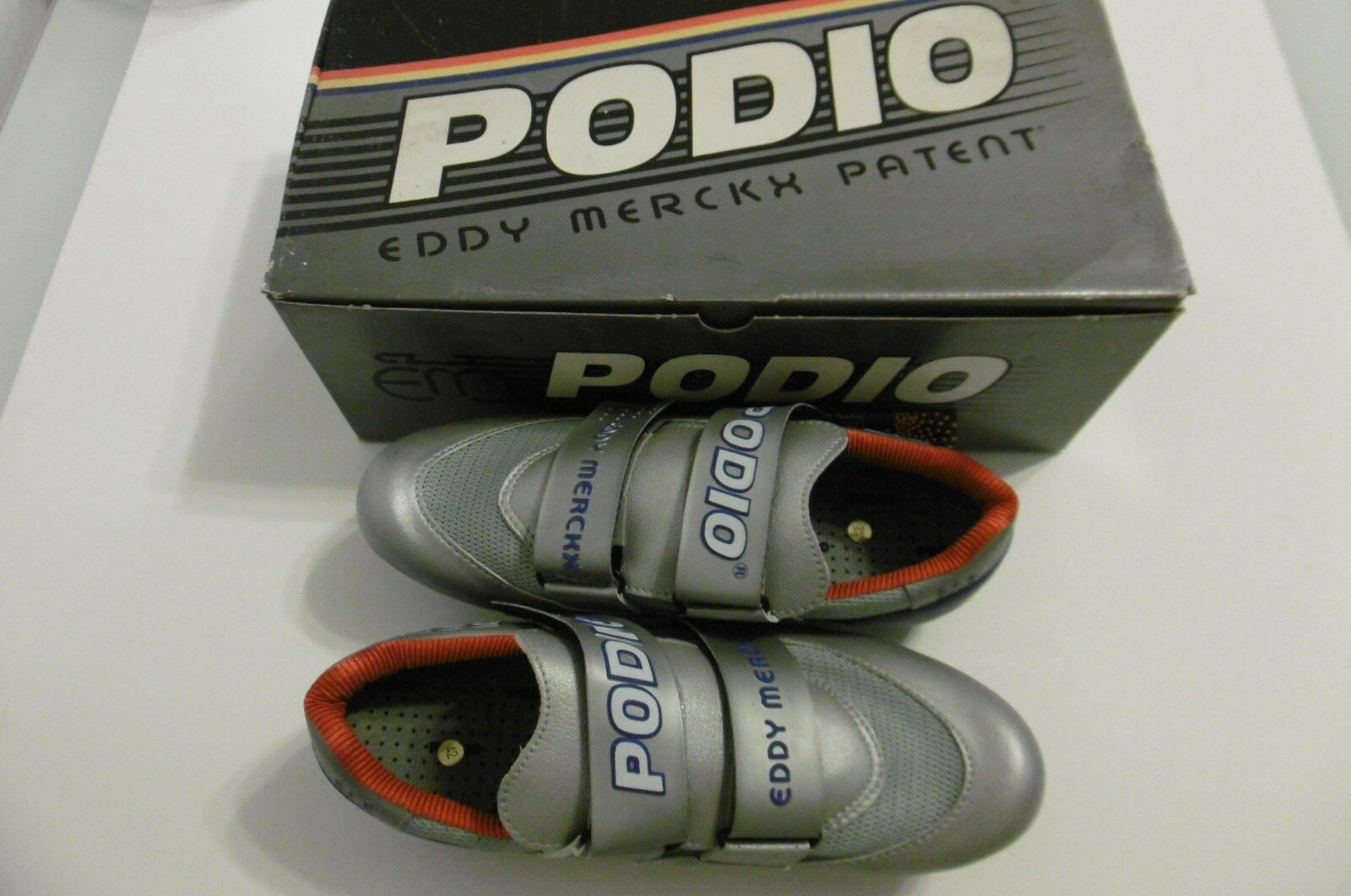 Eddy Merckx Patent Podio S.F.S.2000 Shoes Size 42 With Shoe Cleats New In Box