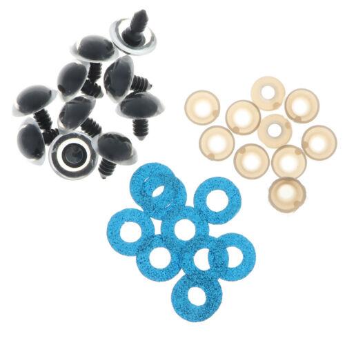 Glitter Nonwovens 10pcs 16-24mm Plastic Safety Eyes Backs For Teddy Bear Toy