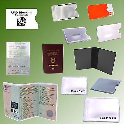 8 Ausweis Hüllen Ausweishülle Ausweishüllen transparente Taschen