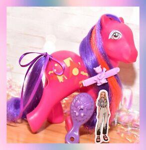 ❤️My Little Pony MLP G1 Vtg 1980's Rockin' Beat PRETTY BEAT Purple EURO Hair❤️
