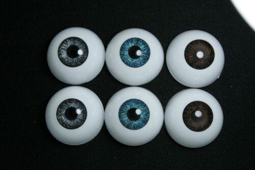 Reborn Puppen Halbrund Acryl Augen bjd 24mm 3 Paare