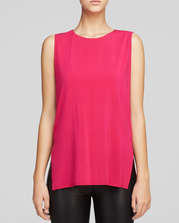 HELMUT LANG Faint Jersey Sleeveless Top in Fuchsia Rosa Größe Medium M