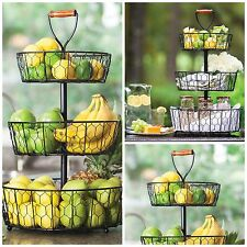 Fruit Basket Holder 3 Tier Wire Stand Kitchen Holder Vegetable Rack Displays