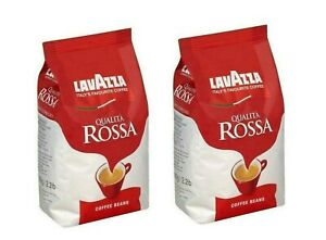 2 x 1kg Lavazza Qualita Rossa Coffee Beans Free UK Delivery