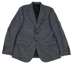 Calvin Klein Mens Sport Coat Gray Size XL Mini Grid Two-Button Blazer $198 295