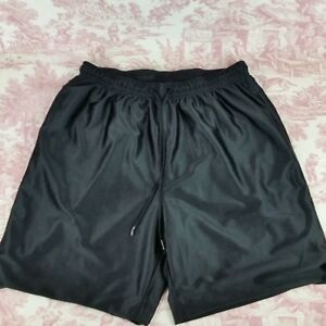 Tek-Gear-Reversible-Athletic-Basketball-Shorts-Size-L-Black-Pockets-Drawstring