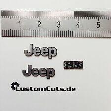 Jeep Wrangler CJ-7 Embleme für Axial RC4WD Tamiya  1:10 RC Scaler Decal Sticker
