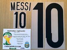 2014 World Cup, Argentina Name Number SET,  MESSI #10
