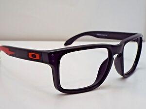 c1d15837df Authentic Oakley OO9102-B2 Holbrook Matte Black Red Sunglasses Frame ...