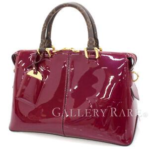 LOUIS-VUITTON-Tote-Miroir-Magenta-Patent-Calf-M54640-Handbag-Authentic-4836896