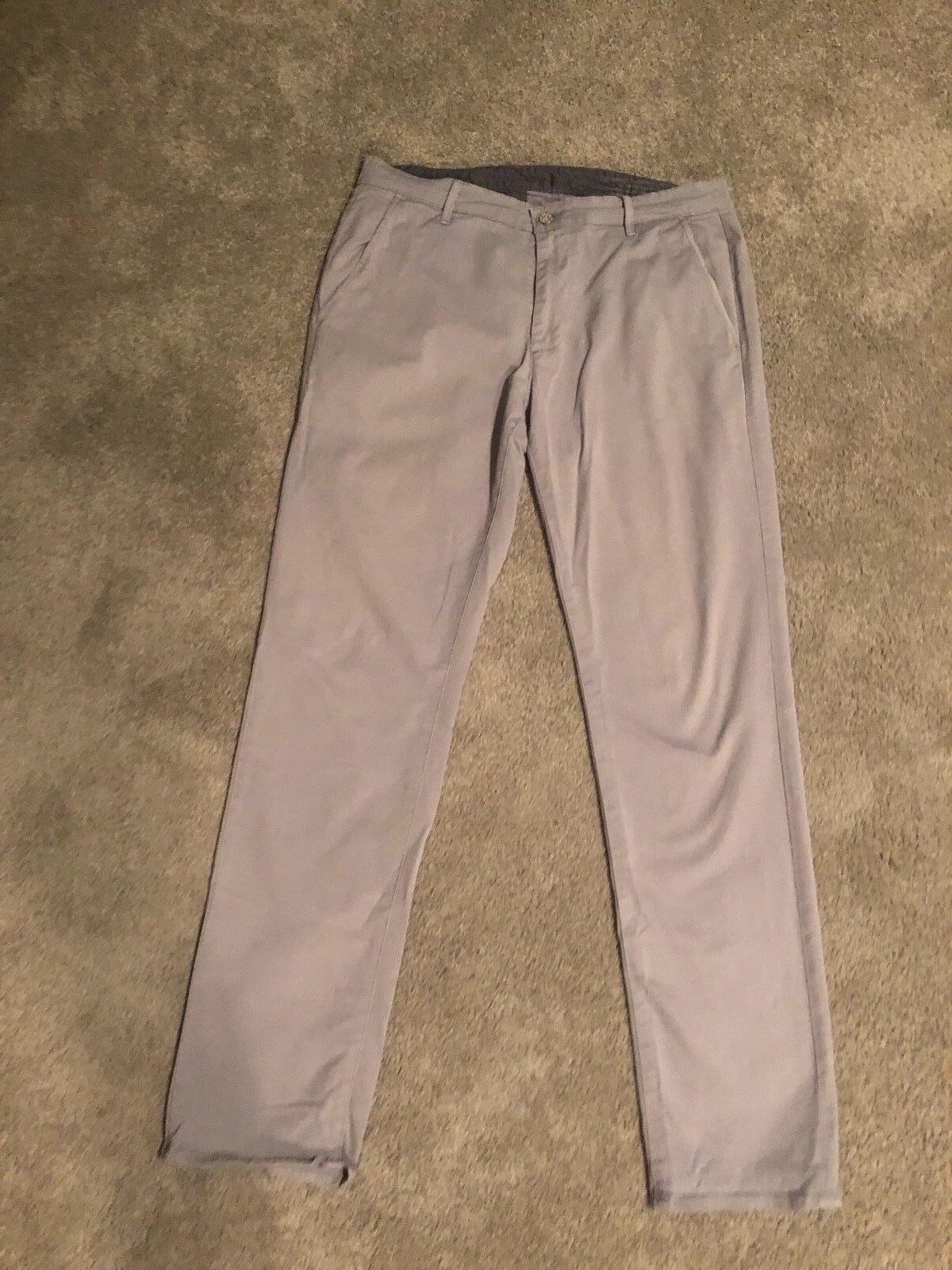 Men's AG Supply Adriano goldschmied Khaki Pants Straight Leg 34 x 34 Grey