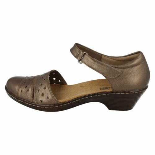 D Ladies 'wendy Casual Clarks Pewter Laurel' Shoes Leather Fit Summer xU8aw6fw