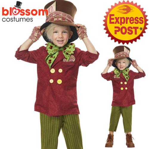 CK1086 Lil/' Mad Hatter Alice in Wonderland Toddler Book Week Kids Boys Costume