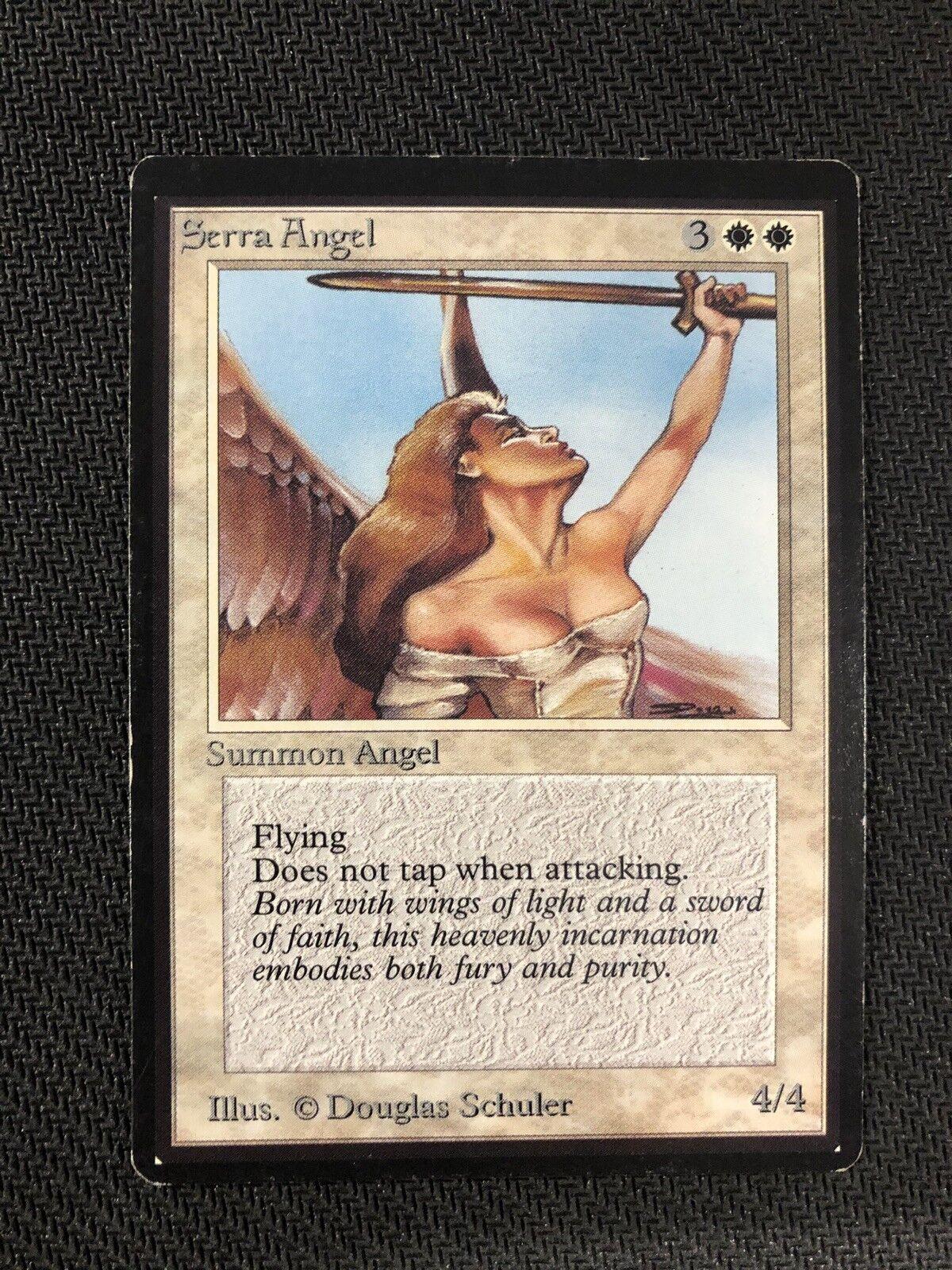 Serra Angel Beta Magic The Gathering MTG Moderate Play MP