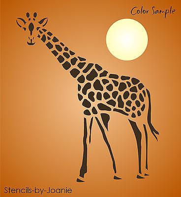 "Safari Animal Stencil 9"" tall Spotted Giraffe South Africa Rustic Cabin Art Sign"