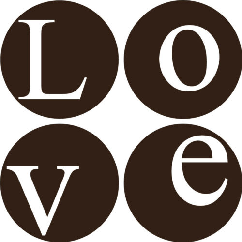 Love inside circles Vinyl Wall Home Decor Decal Quote Moder Inspirational  Cute
