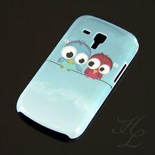 Samsung Galaxy S Duos s7562 HARD CASE GUSCIO PROTETTIVO ASTUCCIO motivo due GUFO OWL