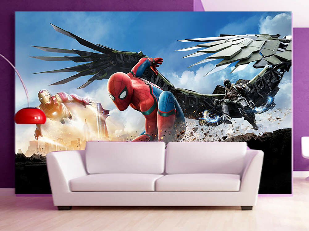 Battle Of Justice 3D Full Wall Mural Photo Wallpaper Printing Home Kids Decor