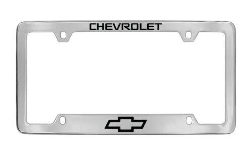 Chevrolet Logo Chrome Plated Brass Metal License Plate Frame Holder