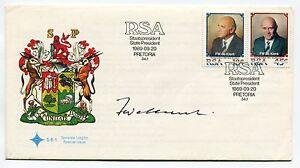 South-Africa-F-W-DE-KLERK-Inauguration-1989-FDC-Super-Rare-Signed-Nobel-Laurette