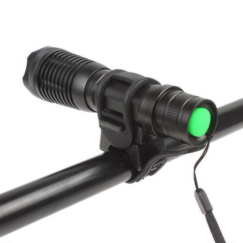 Bicycle Bike Flashlight Holder Mount Adjustable Torch Clamp Clip Bracket Black