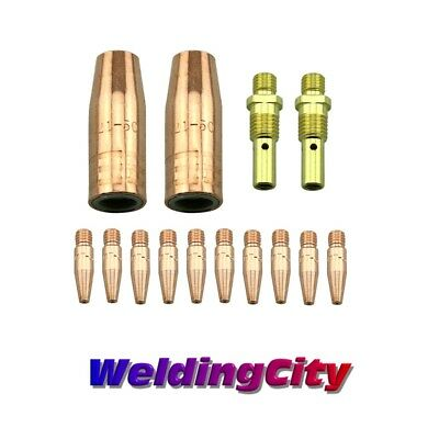 """Welding & Soldering Equipment Mig Welding Gun Kit .035"""" Tapered Tip-diffuer-nozzle For Lincoln Tweco 100l M3t Long Performance Life"""