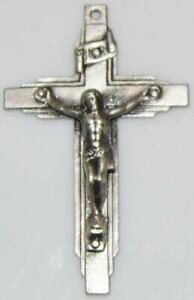 Vintage Orthodox Openwork Small Silvercubic zirconia Crucifixion Virgin Mary Child Jesus Floral ornament Sacramental Religious Symbol IC+XC