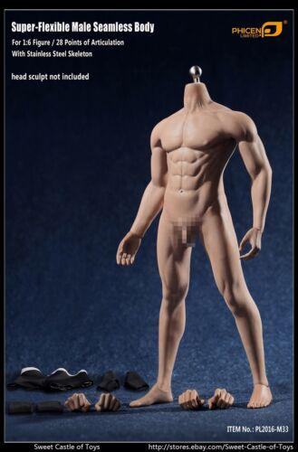 1//6 Phicen super flessibili maschio corpo senza saldatura in acciaio skeleton PL2016-M33 tbleague