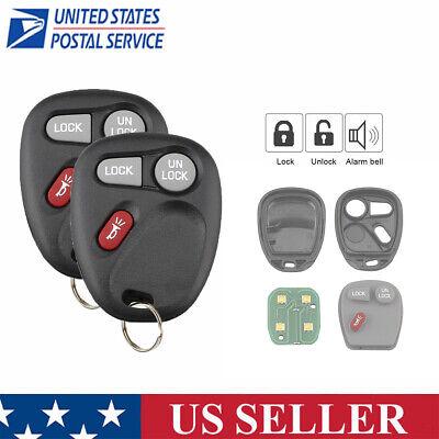 2 Car Key Fob Keyless Entry Remote For 2001 2002 Chevrolet Suburban