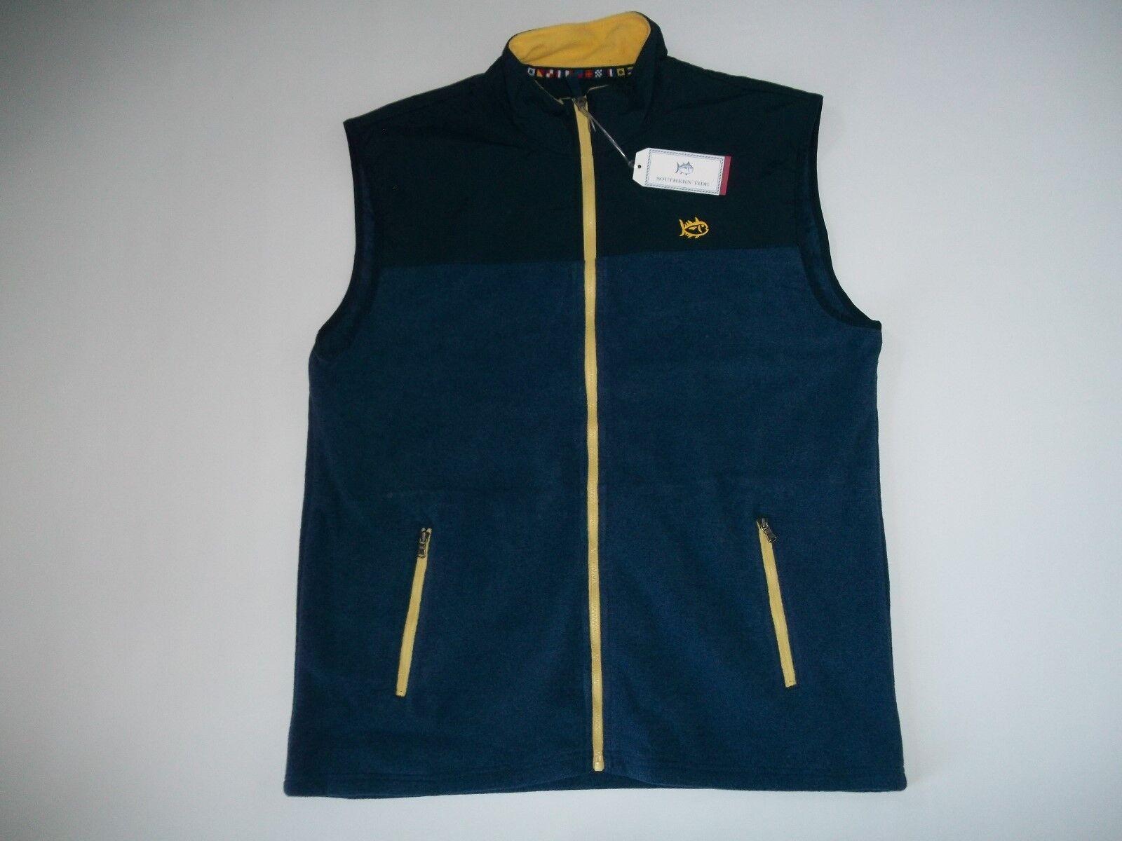 Südlich Südlich Südlich Tide Wahre Marineblau Cambridge Fleece Weste Jacke Herren Größe XL Rt 8afe27