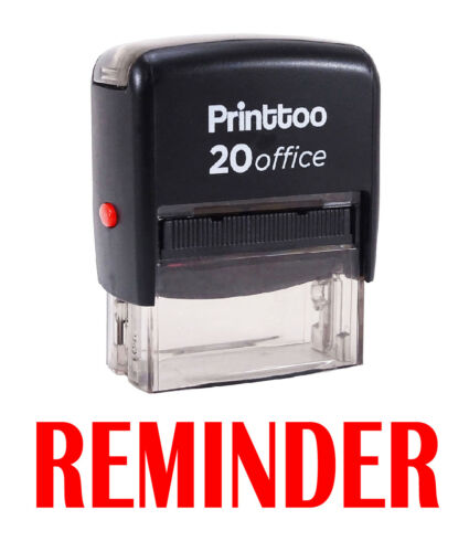 Printtoo Self Inking Rubber  Office Stationary REMINDER Custom Stamp-PRSS295