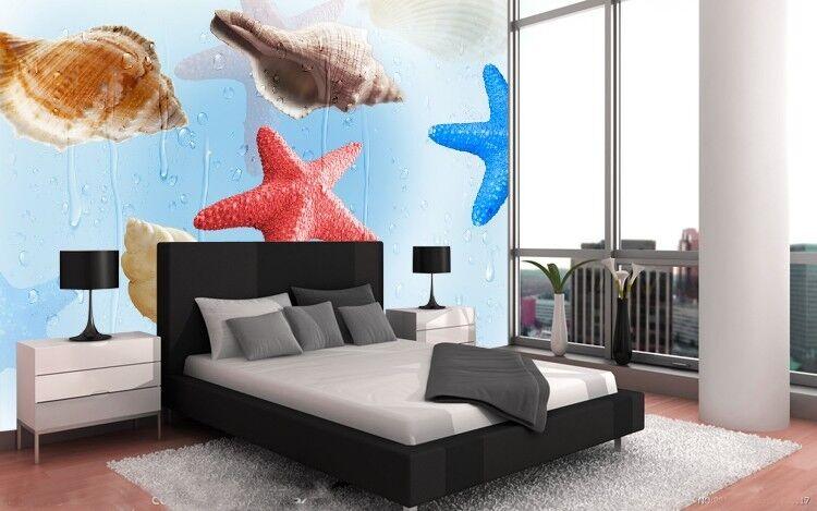 3D Farbiger Seestern 563 Tapete Tapeten Mauer Foto Familie Tapete Wandgemälde