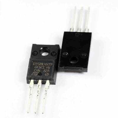 raddrizzatore Schottky; THT; 45V; 2x10A; TO220FP STPS2045CFP 1pz Diodo
