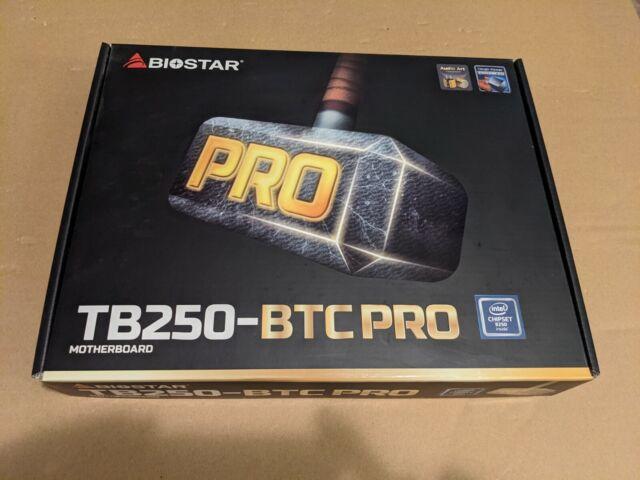 BIOSTAR TB250-BTC PRO MOTHERBOARD 12 GPU SLOTS CRYPTO MINING NEW IN BOX