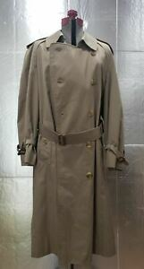 MENS-SIZE-51-SHORT-TAN-BURBERRY-LONDON-CLASSIC-DOUBLE-BREASTED-TRENCH-COAT
