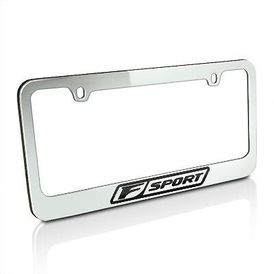 Lexus F Sport Chrome Brass License Plate Frame Official Licensed | eBay