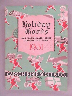 Carson Pirie Scott Catalog Christmas 1931 Toys Toy Ebay