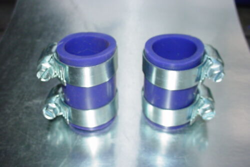 Factory Purple Yamaha Banshee rubber exhaust pipe clamps all years fmf,dg