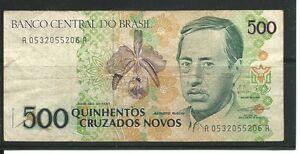 Banco Central Do Brasil- 500 Cruzados Novos-Paper Money   eBay