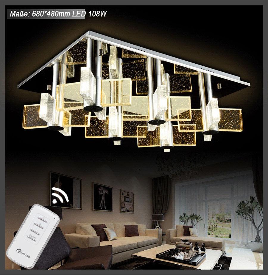 LED lámpara de a techo de cristal con mando a de distancia color de la luz separados conmutable 1681 78700e