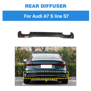 Carbon Heckdiffusor Heckschürze Spoiler Diffusor für Audi A7 S Line S7 2019-2020