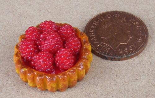1:12 SCALA Lampone Flan Torta 2.2cm tumdee Casa delle Bambole Accessorio dessert D40