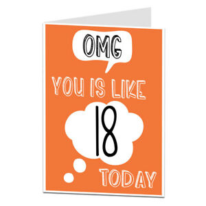 Image Is Loading Funny 18th Birthday Card Boys Girls Perfect For