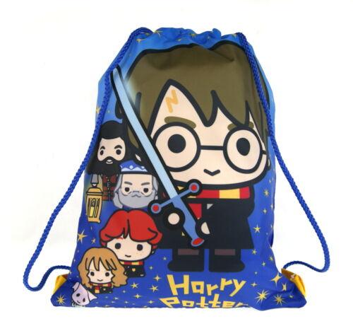Harry Potter Drawstring Gym Bag Cartoon Style Hogwarts Kids Trainer Backpack